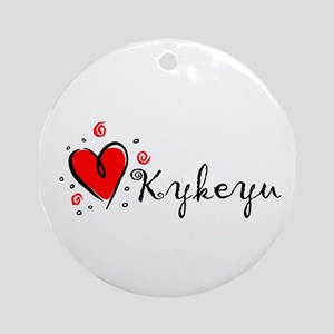 """I Love You"" [Cherokee] Ornament (Round)"